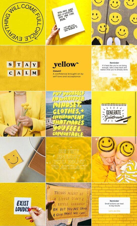 instagram yellow profile style